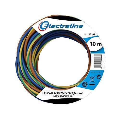 Electraline 25139 Cavo Unipolare N07V-K, Sezione 1x1.5 mm, 10 mt, Marrone/Blu/Verde/Giallo