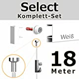 hang-it 18 Meter Bilderschienen - Select - Komplett Set in weiß