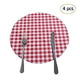 gaeruite gaeruite 4 PCS PVC Runde Tischset, Wasserdicht Tischsets Anti-Hot Tisch Matten Obst Matten für Hotel Home täglichen Gebrauch, 30cm / 11.81in