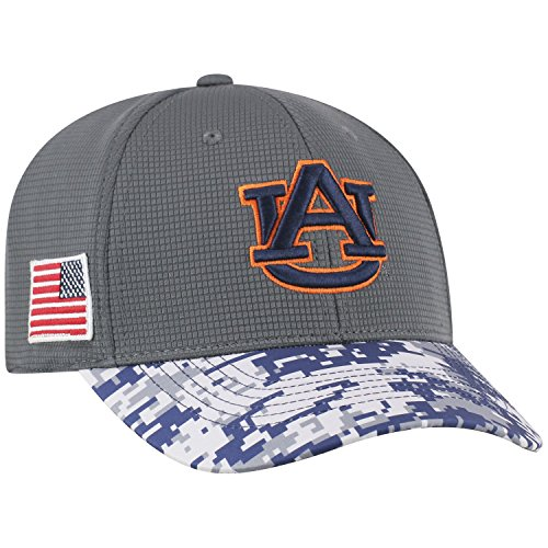Top of the World NCAA Men 's Salute to USA Military-One-fit Camo Hat Cap, Herren, Auburn Tigers, One Size Fits Most- M/L-Stretch Fit (7-7-3/8) Camo Military Cap