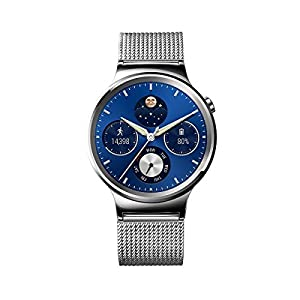 "Huawei Watch Classic - Smartwatch Android (pantalla 1.4"", 4 GB, 512 MB RAM), correa de malla, color plateado"
