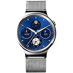 "Huawei Watch Classic - Smartwatch Android (pantalla 1.4"", 4 GB, 512 MB RAM), correa de malla, color plateado"