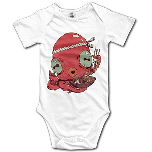 TKMSH Unisex Baby's Climbing Clothes Set Octopus Bodysuits Romper Short Sleeved Light Onesies for 0-24 (Octopus Fancy Dress Kostüme)