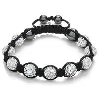 chinkyboo Unisex Shamballa Bling Disco Ball Friendship Gift Sparkling Crystal Bracelet Beads