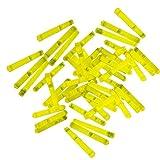 20 Mini-Knicklichter, Bissanzeiger, Angel-Knicklichter in gelb inkl. Verbinder | verpackt zu je 2 Stück pro Tüte und ein Verbinder, insgesamt 10 Tüten