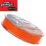 Fox Rage Pro x8 120m orange - geflochtene Angelschnur für Hechte, Zander & Barsche, Schnur zum Spinnfischen, Geflechtschnur, Durchmesser/Tragkraft:0.25mm / 55lbs / 25kg Tragkraft