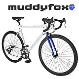 Muddyfox Road 14 - 700C Wheel Touring Road Bike in White and Blue - 14 Speed