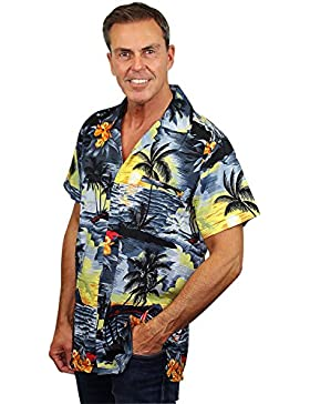 Originale King Kameha | Funky Camicia Hawaiana | Uomo | XS - 12XL | Manica Corta | Tasca-Frontale | Stampa Hawaiano...