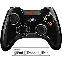 [MFI certifié Apple] Manette iphone, BEBONCOOL Manette IOS Bluetooth sans fil pour iPhone, iPad, iPod touch, Apple TV avec support détachable (noir)
