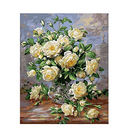 zlhcich : Paesaggio Dipinto ad Olio 107 Decorazione Camelia Bianca 40x50cm Senza Co