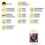 Maca Kapseln hochdosiert 4000 mg + L-Arginin 1800 mg + Vitamine + Zink, 240 Kapseln für 2 Monate, Qualitätsprodukt-Made-in-Germany jetzt zum Aktionspreis und 30 Tage kostenlose Rücknahme! 1er Pack (1 x 206,4 g) - 5