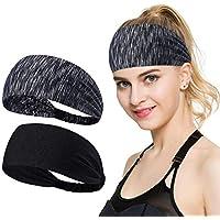 ECOMBOS Sport Stirnband für Frauen Lady - Headband Schweißband für Yoga, Radfahren, Laufen, Fitness, Fahrrad Volleyball Running Rennen Fußball Anti- Rutsch Haarband Headbands für Herren und Damen