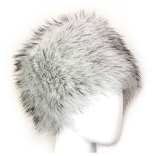 Kosaken Russisch Stil Winter Hut von MAXGOODS - Weiß (Russische Faux Pelz Hut)