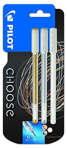 Gelschreiber Choose 3Er Gold/Silber/Weiss