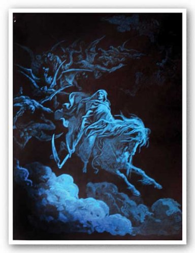 Death Rides a Pale Horse (Non-Flocked Blacklight) Kunstdruck
