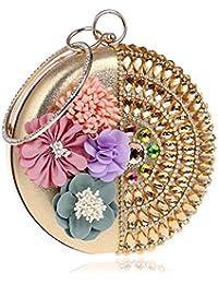 TuTu Mujeres de embrague de flores de diamantes de señora bolsos de noche en forma de rombos hechos a mano de...