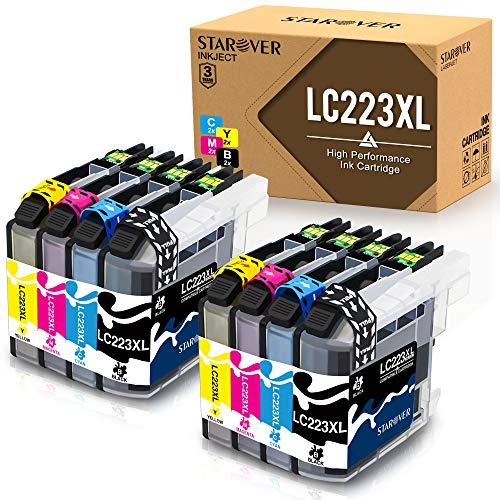 STAROVER 8x LC223 XL LC223XL Compatibile Cartucce d'inchiostro Sostituzione Per Brother DCP-J4120DW J562DW MFC-J4420DW J4425DW J4620DW J4625DW J5320DW J5620DW J5625DW J5720DW J480DW J680DW MFC-J880DW