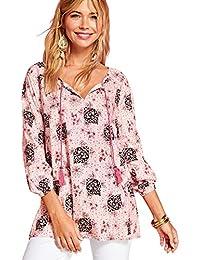 9efed707761 VENCA Camisa de Viscosa Estampada con Cordones Mujer by Vencastyle - 022703