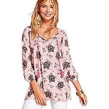 1e2ed86fd VENCA Camisa de Viscosa Estampada con Cordones Mujer by Vencastyle - 022703