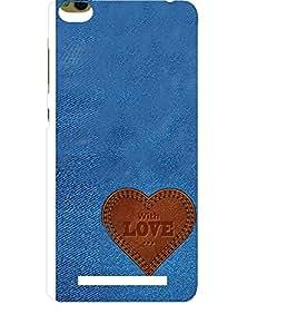 EPICCASE Jean heart Mobile Back Case Cover For Xiaomi 3S Prime (Designer Case)