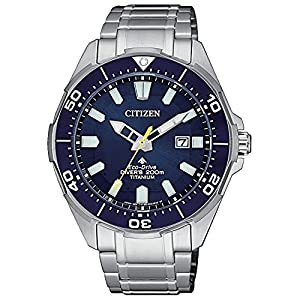 Citizen Promaster Diver 200mt Eco Drive Super Titanio BN0201–88L, reloj de pulsera para hombre 11