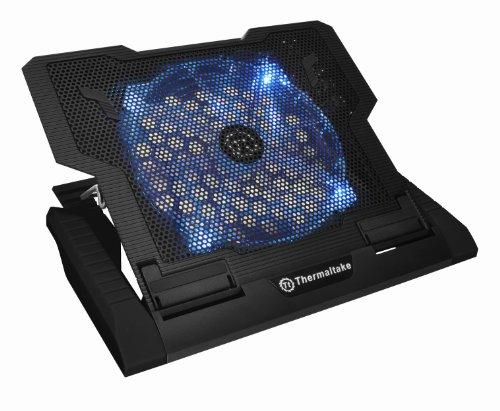 Thermaltake Massive 23 GT Black Edition Notebook Kühler für 25,4 cm (10 Zoll) bis 43,1cm (17 Zoll)