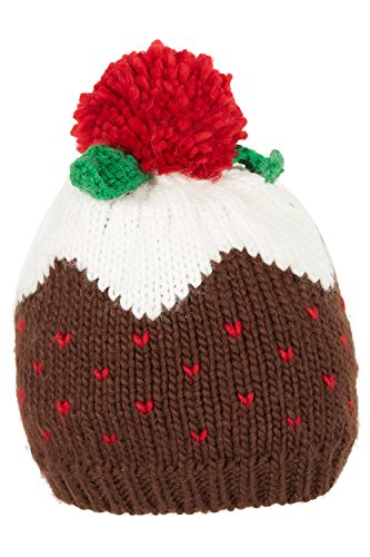 bonmarche-womens-christmas-pudding-hat-brown-size