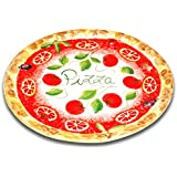 handgemachter Pizzateller Tomate aus italienischer Keramik, großer Teller rund ca. 33 cm
