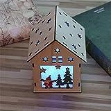 SHJIA Simpatica casa a LED in Legno con luci Modello Hanging Tree Decor Ornamenti Decorazioni Natalizie 2 Pezzi