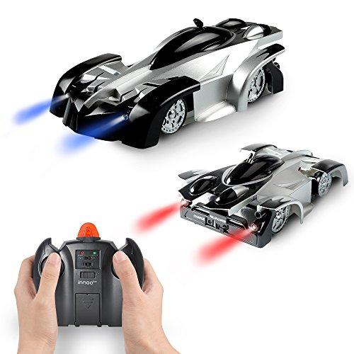 Innoo Tech Ferngesteuertes Auto, RC Auto, wiederaufladbares Fahrzeug mit Fernbedienung und Stunt Kletterwand Funktion, 360-Grad-Spins mit LED Leuchten, Tolles Geschenk für Kinder ab 8 Jahr