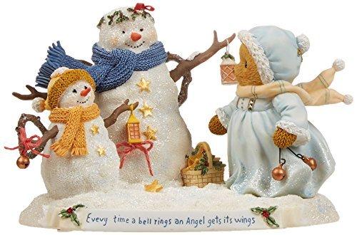 Enesco Cherished Teddies Collection Bear/Snowmen/Lantern Figurine, 3.25-Inch by Enesco -