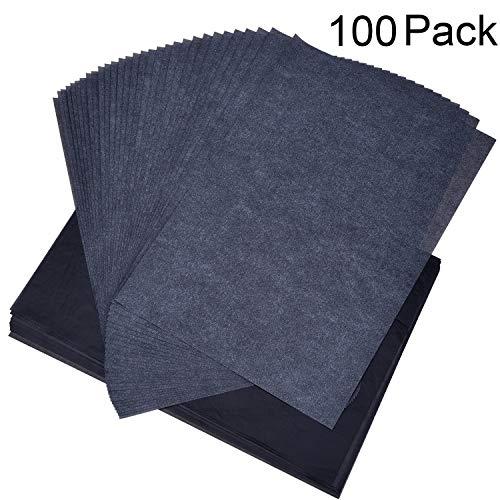 100 Fogli Carta Grafite da Ricalco Carta di Trasferimento Carbonio per Legno, Carta, Tela (100 Pezzi 8.5 da 11 Pollici)