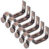 BESPORTBLE 6 stücke 18-22mm Einstellbare Vorhangstange Halterung Wand Vorhangstange Vorhang Halterung (Kupfer Rot)