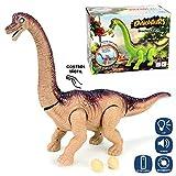 Bakaji Dinosauro Barontosauro Camminante con Luci Suoni e Movimenti Giocattolo Bambini Dimensioni 45 cm