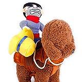 Leegoal HundeKostüm Haustier Kostüm Cowboy Reiter Stil mit Puppe und Hut für Halloween Größe S