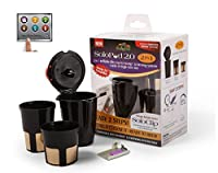 SoloPod 2.0 2in1 refillable filter cup for Keurig 2.0 K200, K300, K400, K500 and PLUS Series carafe or single serve size (Full Menu)