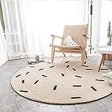 KYDJ Runden Teppich Teppich Teppich computer Fitness yoga Sitzkissen Schlafzimmer Wohnzimmer Bett Fußbodenbelag (Größe: Durchmesser 150 CM)