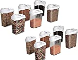 Mr Products Cereal Dispenser Easy Flow Storage Jar 1100 Ml 12 Pcs Set
