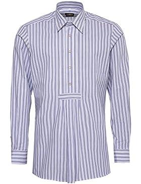 Hammerschmid Trachtenhemd Slim Fit Beppo Zweifarbig in Blau und Grün