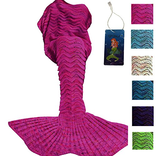DDMY Mermaid Tail Blanket Adult Crochet Mermaid