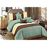 Glace Cotton Comforter Set (4 Piece Combo Set Of Double Roots Luxurious Reversible Comforter And Queen Size Bedsheets With 2 Pillow Covers)