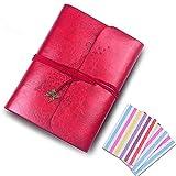 QC Life Schmetterlings-Fotoalbum, handgefertigt, Ledereinband, 60Seiten, Premium schwarzes Papier, für Jahrestag, personalisierten Valentinstag, Reisen. weinrot