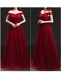 HDJJKSH Abiti da cerimonia nuziale di banchetto brindisi moda Slim sposa  abito da sera da sposa era vestiti a spalla… 62d761c0a87