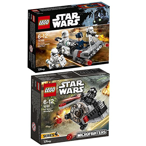 Lego Star Wars 2er Set 75161 75166 TIE Striker Microfighter + First Order Transport Speeder