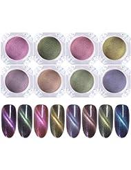 1 Box 3d Katze Auge Wirkung Magnet Spiegel Pulver Mit Pinsel Magnetische Nail Art Glitter Staub Uv Gel Polnischen Chrome Diy Nail Art Pigment Nagelglitzer Nails Art & Werkzeuge