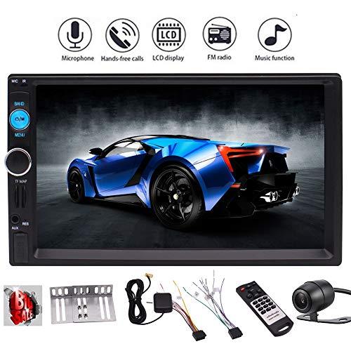 uto GPS HD Bluetooth Stereo Radio FM MP3-MP5 In-Schlag Auto-MP5 BT-Radio Audio Video FM GPS USB TF AUX-Touch Screen mit Rückfahrkamera ()