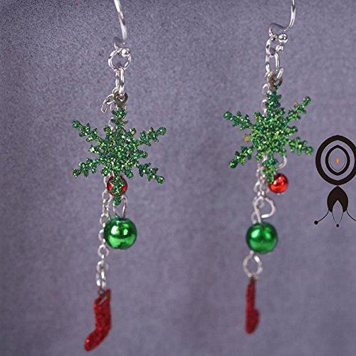 Hosaire 1 Paar Damen Weihnachten Glocken Anhänger Ohrringe Frauen Schmuck Zubehör Ohrhänger
