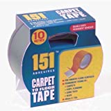 DOUBLE SIDED CARPET TO FLOOR TAPE 10M LONG x 48MM WIDE -SINGLE by Generic