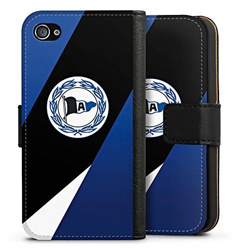Apple iPhone 6s Silikon Hülle Case Schutzhülle Arminia Bielefeld Fanartikel DSC Sideflip Tasche schwarz