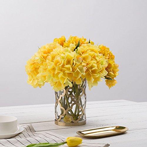 European Golden Hollow Glass Vase/decorative Ornaments-b